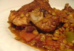 Moroccan Chicken with Lentils