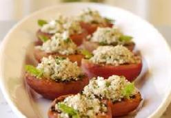 SAVORY STUFFED PEACHES WITH FETA COUSCOUS