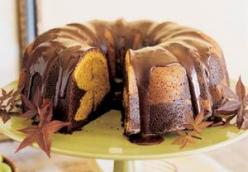 Chocolate-Pumpkin Marble Cake
