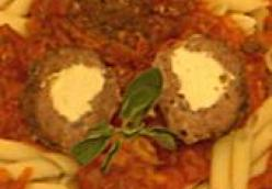 Stuffed Meatballs with Vodka Sauce Recipe