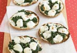 Mini Spinach and Cheese Pizzas