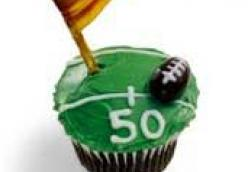 Touchdown Treat: Football Cupcake