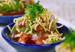 Indori Tamater Chaat - Stuffed Tomato Chaat - Indian Recipe