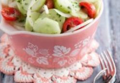 Aunt Peggy's Cucumber Tomato and Onion Salad