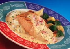 Red Lobster's Salmon with Lobster Mashed Potatoes