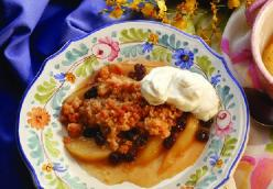 Pear Brown Betty
