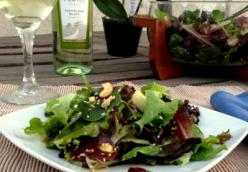 Spinach Salad with Curried Apple and Cashew Dressing