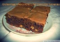 Gluten-free chocolate chip zucchini brownies