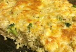 Broccoli, Rice, Cheese and Chicken Casserole