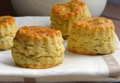 Blue cheese, cumin and Greek yogurt scones