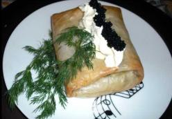 Mustard Salmon In Phyllo
