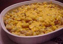 Cheesy Chicken Macaroni & Cheese Casserole