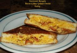 Cincinnati Bengals Bacon & Mac Grilled Cheese