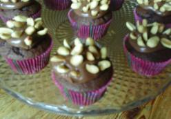 salted peanut nutella chocolate cupcakes