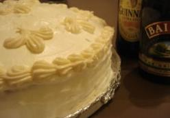 Guinness Cake with Bailey's Buttercream Icing