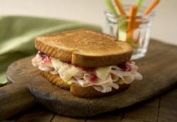 Grilled Turkey And Cheese Sandwiches With Cranberry Mustard Sauce