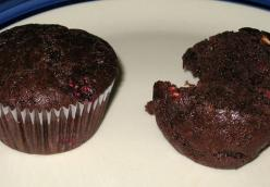 Chocolate Raspberry Hazelnut muffins (vegan)