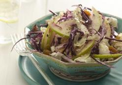 Red Cabbage and Apple Salad with Ginger Vinaigrette