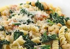 Chicken and spinach rotini pasta