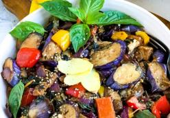 Thai Basil Eggplant: Vegan and Gluten Free