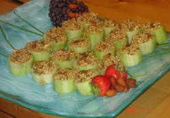 Cucumber Cups With Mediterranean Filling