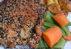 Panfried Miso Fish with dual sesame