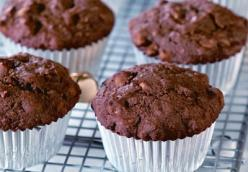 Fudgy Peanut Butter Chip Muffins