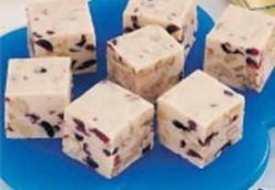 Cranberry Walnut White Fudge