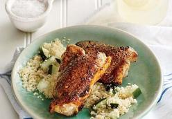 Spiced Chicken Thighs with Parsley Couscous