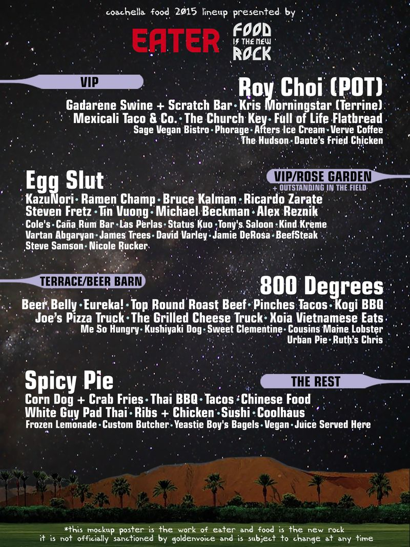 Coachella food poster