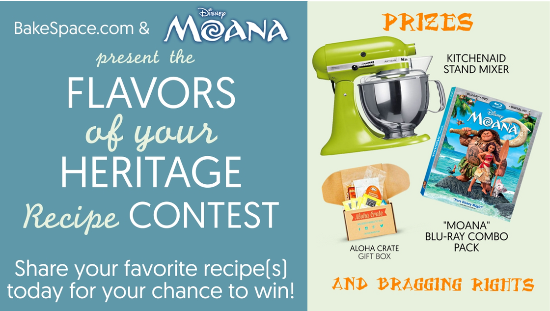 Moana Recipe Contest