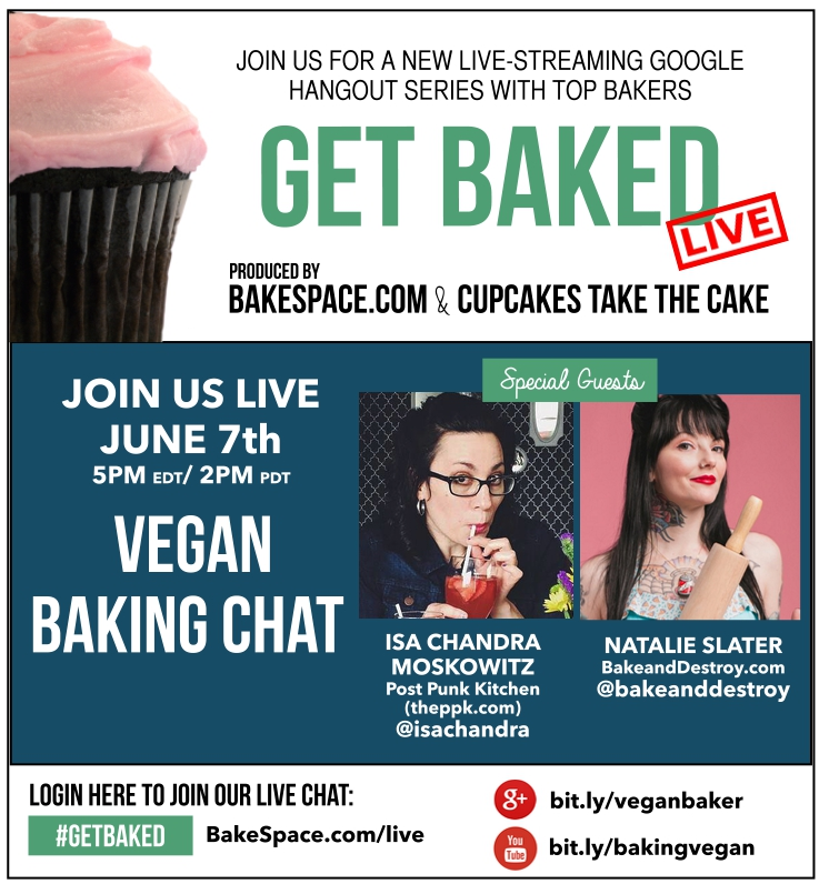vegan baking chat